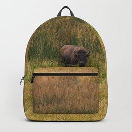 Yellowstone Bison Nature Wildlife Photography, Yellowstone National Park Fields Buffalo Backpack