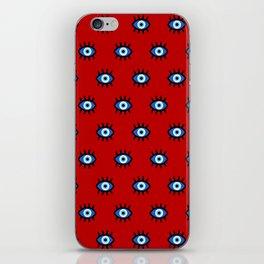 Evil Eye on Red iPhone Skin