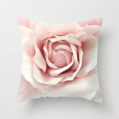 Pastel Pink Rose Throw Pillow