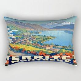 Vintage poster - Territet Montreaux Rectangular Pillow