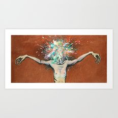 The Vulnerability Evoked in Failing to Capture the Mind's Ceaselessly Combusting Ephemera Art Print