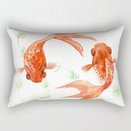 Koi Fish, Feng Shui, Goldfish art, Two fish, Rectangular Pillow