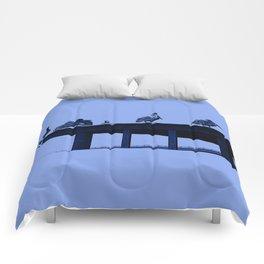 Blue Pelicans Comforters