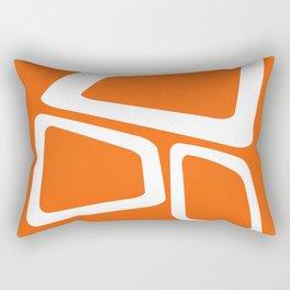 Mid Century In Burnt Orange Rectangular Pillow