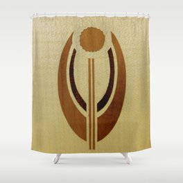 Elegant harmony mindfulness star soft motif bajor badge Shower Curtain
