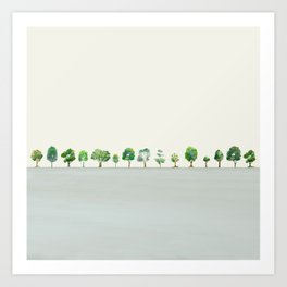 A Row Of Trees Art Print