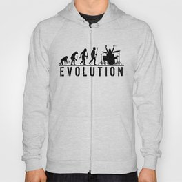 The Evolution Of Man And Drums Hoody