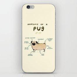Anatomy of a Pug iPhone Skin