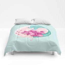 Mermaid with fishes Comforters