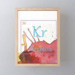 Elementals: Krypton Framed Mini Art Print