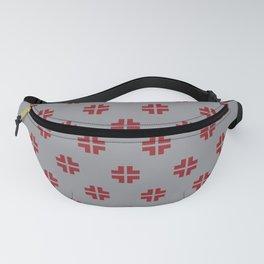 Scandinavian / Grey + Red Fanny Pack