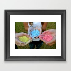 Chalk Hands Framed Art Print