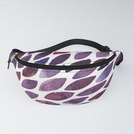Watercolor brush strokes burst - purple autumn palette Fanny Pack