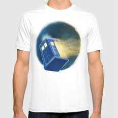 The TARDIS White MEDIUM Mens Fitted Tee