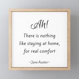 Jane Austen - Home Framed Mini Art Print