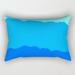 Minimal Mountain Range Outdoor Abstract Rectangular Pillow