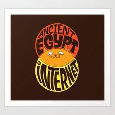 Ancient Egypt, The Internet, Cats Art Print