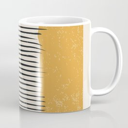 Mid Century Modern Minimalist Rothko Inspired Color Field With Lines Geometric Style Coffee Mug