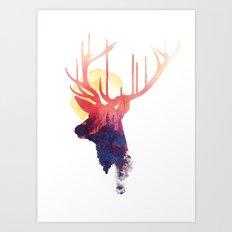 The burning sun Art Print