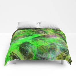 Neon Galaxy - Abstract Comforters