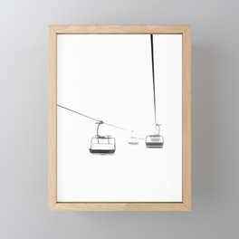 Lifts from and to nowhere Framed Mini Art Print