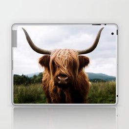 Scottish Highland Cattle in Scotland Portrait II Laptop & iPad Skin