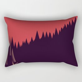 A Cabin in the Wood Rectangular Pillow