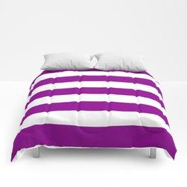 Dark magenta -  solid color - white stripes pattern Comforters