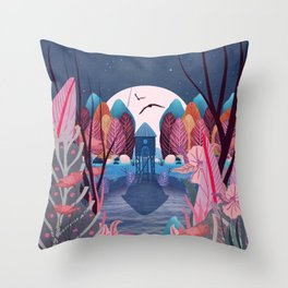 Mystery Garden Throw Pillow