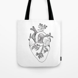 Growing heart Tote Bag