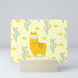 Alpaca summer Mini Art Print