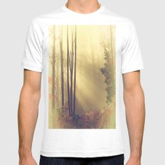 From Above Mens Fitted Tee White MEDIUM