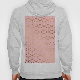 Pink and Gold Geometry 011 Hoody