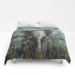 The Elephant | Oil Painting Comforters