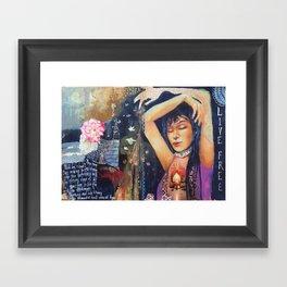 Living Free Framed Art Print