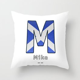 Mike - Navy Code Throw Pillow