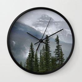 Misty Mountain Top Wall Clock