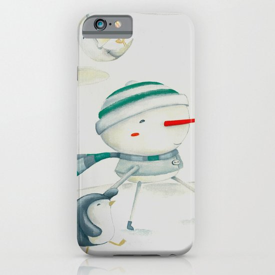 Snowman and friend iPhone & iPod Case