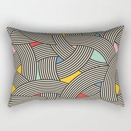Modern Scandinavian Multi Colour Color Curve Graphic Rectangular Pillow