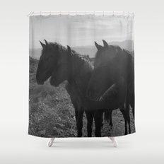 Desert Horses Shower Curtain