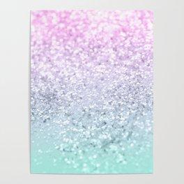 Mermaid Girls Glitter #1 (2019 Pastel Version) #shiny #decor #art #society6 Poster