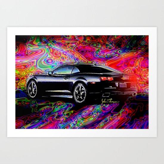 2012 Camaro Art Print
