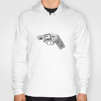gun Hoodies featuring Gun by ToppArt