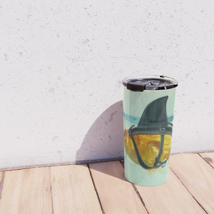 Brilliant DISGUISE - Goldfish with a Shark Fin Travel Mug