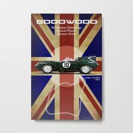 Goodwood Vintage Jaguar D-Type Metal Print