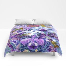 Orchids & Hummingbirds Comforters