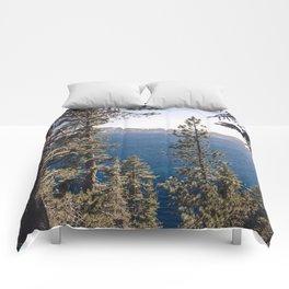 Hidden Lake Love - Nature Photography Comforters