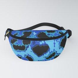 Blue Leopard Spots Fanny Pack
