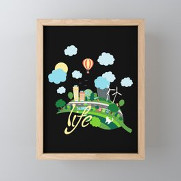 Eco Life Framed Mini Art Print