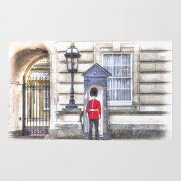 Buckingham Palace Queens Guard Art Rug
